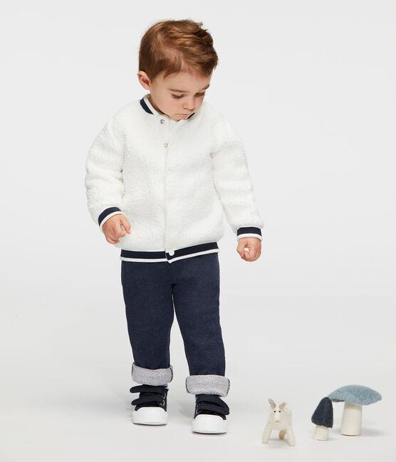 Pantalon bébé garçon en molleton bleu Smoking