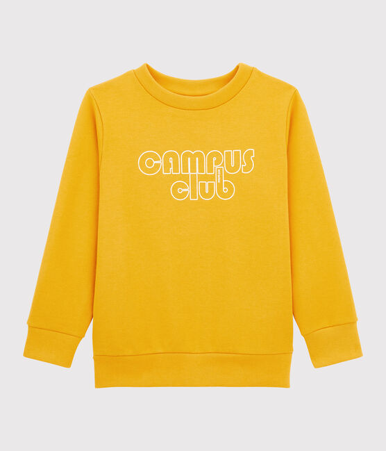 Sweatshirt enfant garçon jaune Boudor