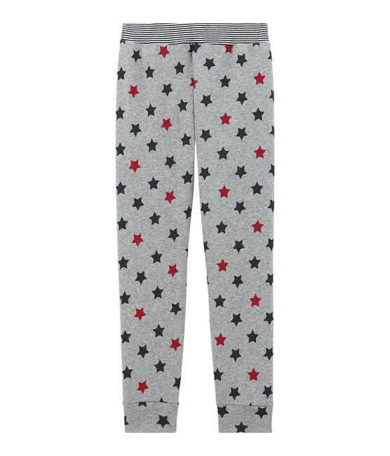 Pantalon de pyjama petit garçon gris Subway / blanc Multico