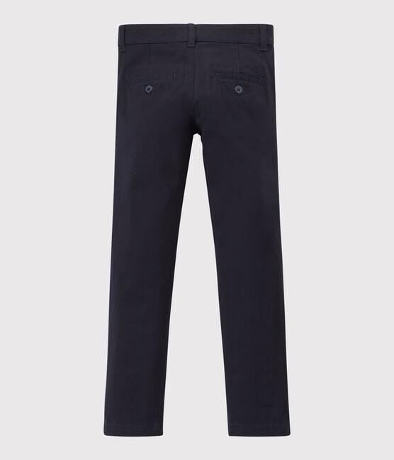 Pantalon en gabardine enfant garçon bleu Smoking