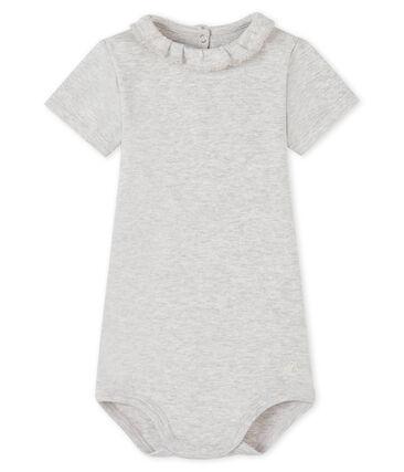 Body bébé fille à collerette gris Beluga