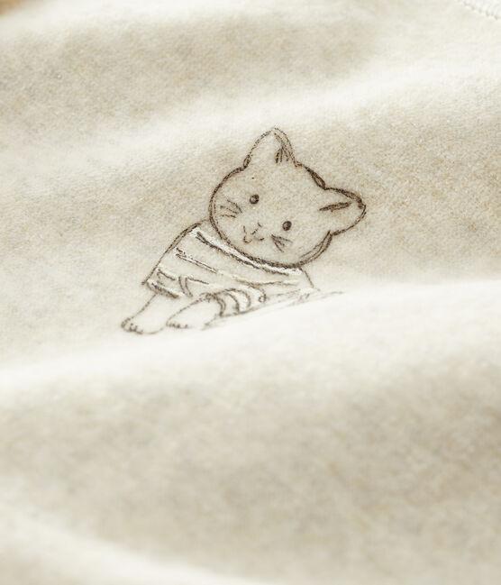 Dors-bien chat bébé en velours gris Montelimar Chine
