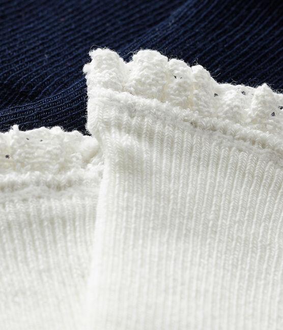 Lot de 2 paires de chaussettes dentelle bébé fille SMOKING