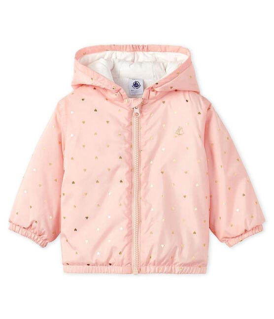 Blouson doublé polaire bébé mixte rose Minois / jaune Or