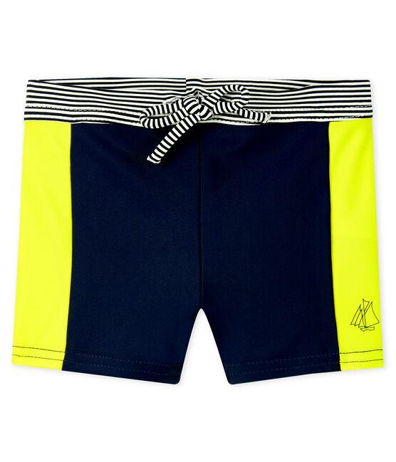 Maillot de bain UPF 50+ bébé garçon bleu Smoking / jaune Jaune