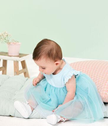 Robe body manches courtes bébé fille bleu Glacis