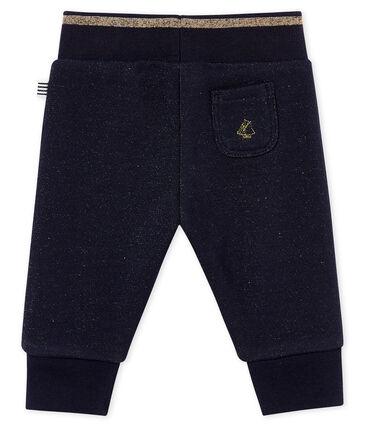 Pantalon molleton brillant bébé fille
