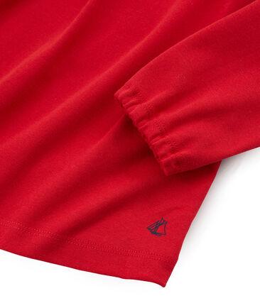 Tee shirt manches longues enfant fille rouge Terkuit