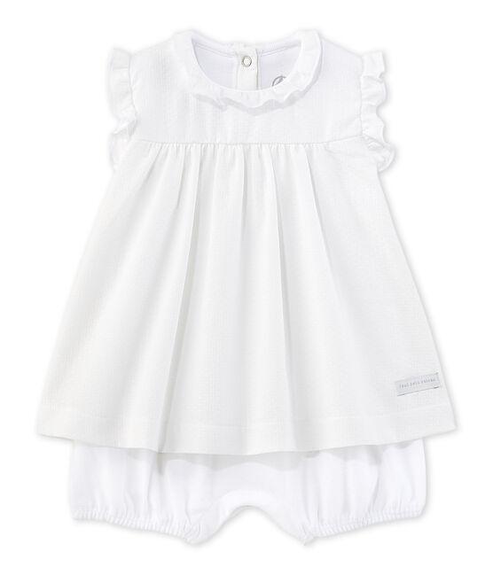 Robe body bébé fille blanc Ecume
