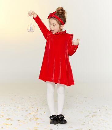 Robe manches longues enfant fille rouge Terkuit