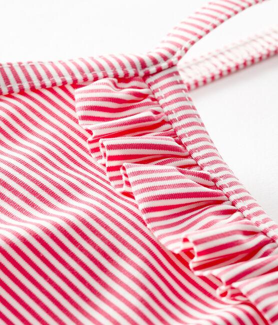 Maillot de bain une pièce UPF 50+ bébé fille rose Geisha / blanc Marshmallow