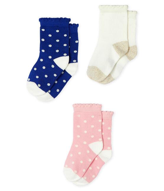 Lot de 3 paires de chaussettes bébé fille lot .