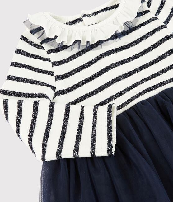 Robe manches longues bébé fille MARSHMALLOW/SMOKING ARGENT BRI