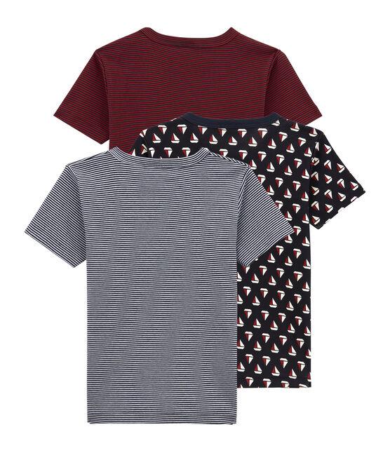 Trio de tee-shirts manches courtes petit garçon lot .