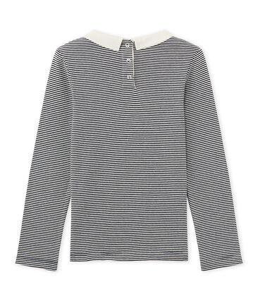 T-shirt fille manches longues en milleraies