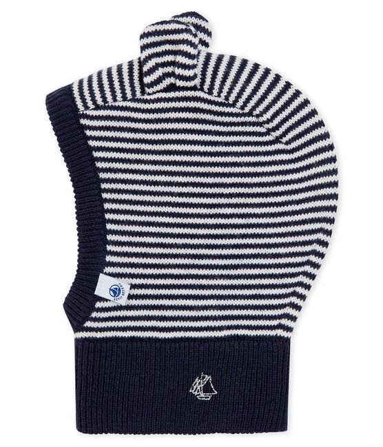 Cagoule bébé mixte bleu Smoking / blanc Marshmallow