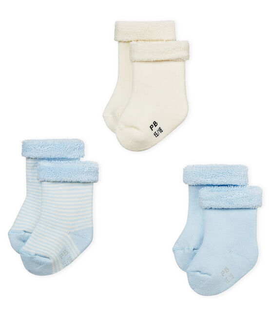 Lot de trois paires de chaussettes bébé mixte lot .