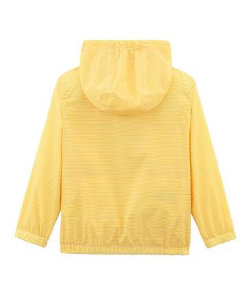 Coupe-vent enfant mixte jaune Honey / blanc Marshmallow