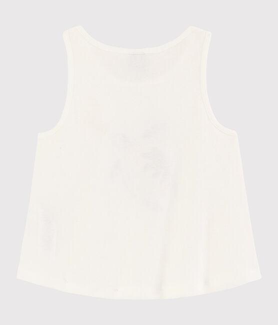 Débardeur en coton enfant fille blanc Marshmallow