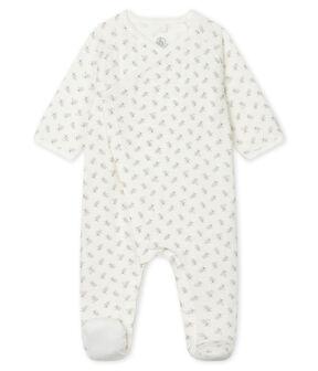 Dors bien bébé en tubique blanc Marshmallow / blanc Multico