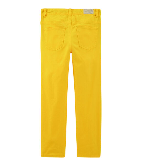Pantalon enfant garçon jaune Shine