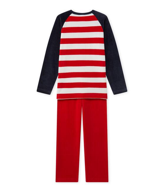Pyjama garçon à motif ancre bleu Smoking / rouge Froufrou