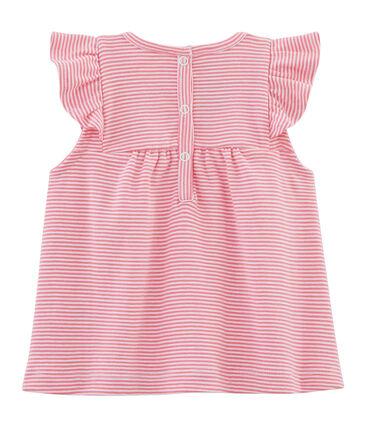 Blouse rayée bébé fille rose Joue / blanc Ecume