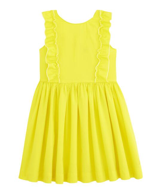 Robe enfant fille jaune Eblouis