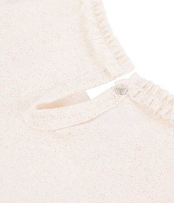 Tee-shirt Manches longues mileraies blanc Marshmallow / rose Copper