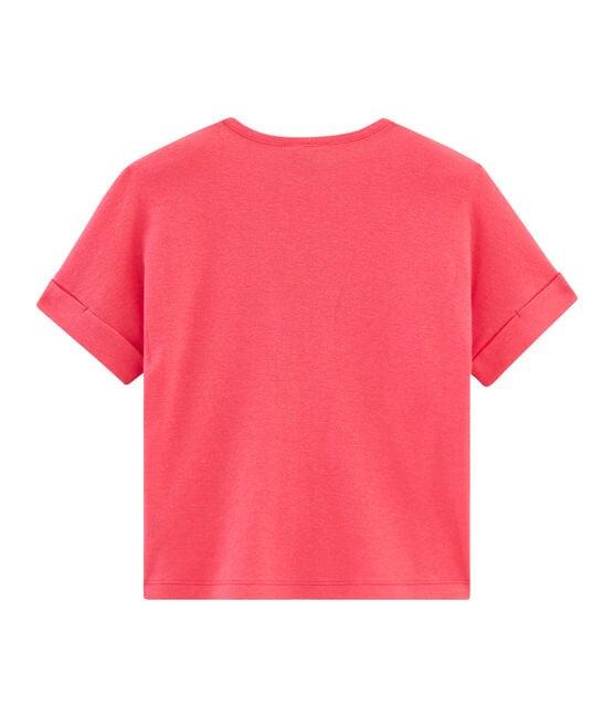 Tee-shirt à manches courtes enfant fille rose Groseiller