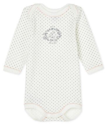 Body manches longues bébé blanc Lait / gris Maki