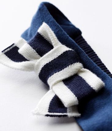 Bandeau cheveux bébé fille bleu Smoking / blanc Marshmallow