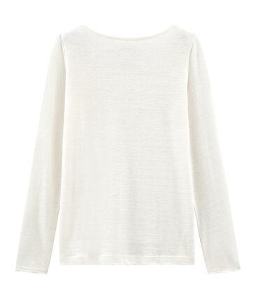 Tee-shirt manches longues femme en lin