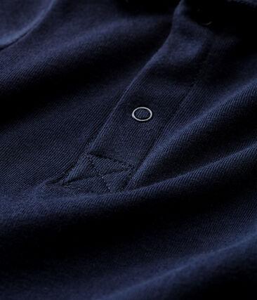 Body manches courtes col polo bébé garçon uni bleu Smoking