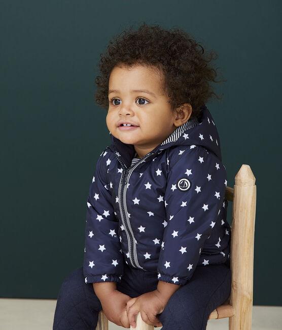 Blouson bébé fille/garçon imprimé bleu Smoking / blanc Marshmallow