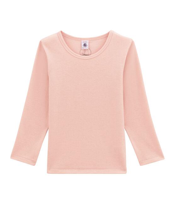 tee-shirt manches longues petite fille en laine et coton JOLI