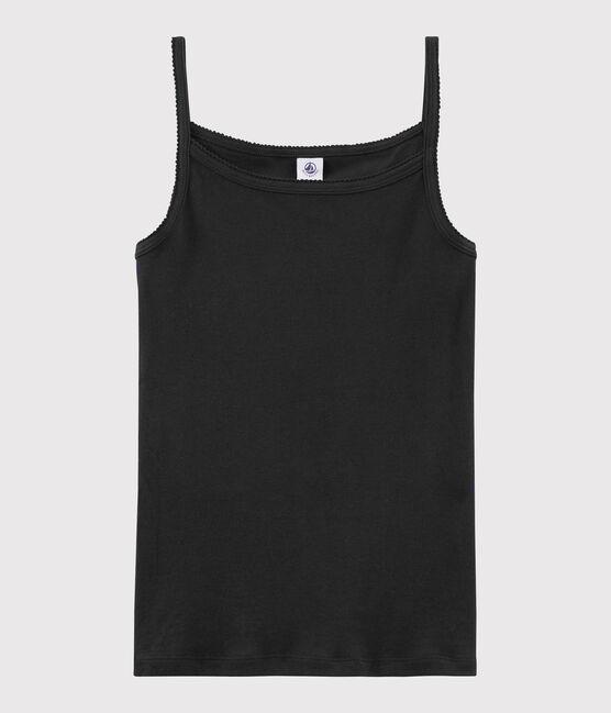 Chemise à bretelles iconique en coton Femme noir Noir