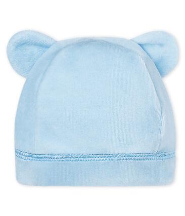 Bonnet naissance bébé mixte velours bleu Fraicheur
