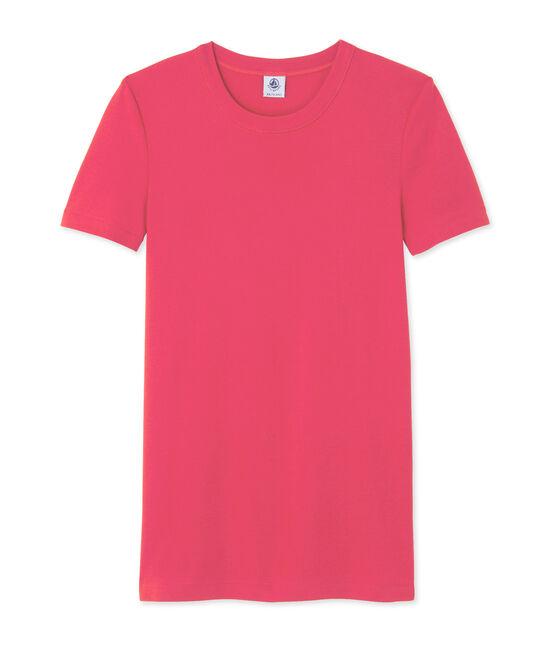 T-shirt femme rose Gloss