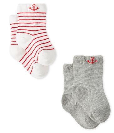 Lot de 2 paires de chaussettes légères bébé garçon