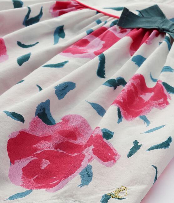 Robe bébé fille manches papillons imprimée blanc Marshmallow / blanc Multico