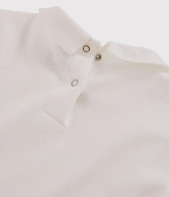 Tee-shirt manches longues en coton enfant fille blanc Marshmallow