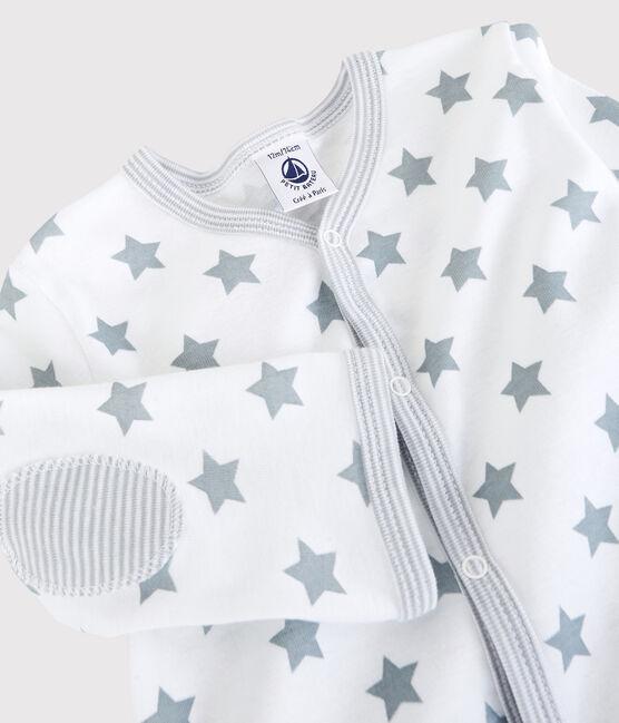 Dors-bien à étoiles grises bébé en coton blanc Ecume / gris Mistigri