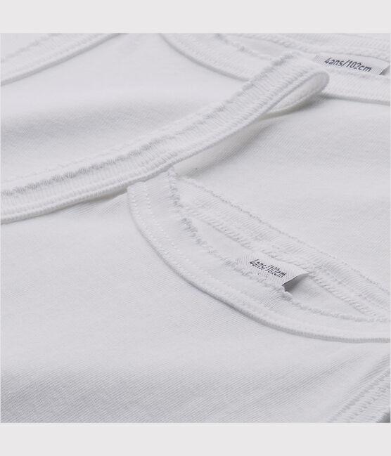 Lot de 2 chemises à bretelles blanches fille lot .