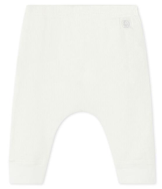 Caleçon bébé en côte 2x2 blanc Marshmallow