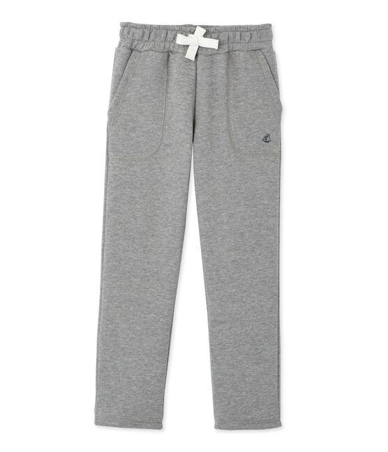 Pantalon garçon en molleton gris Subway Chine