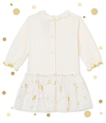 Robe tulle bébé fille blanc Marshmallow / blanc Multico