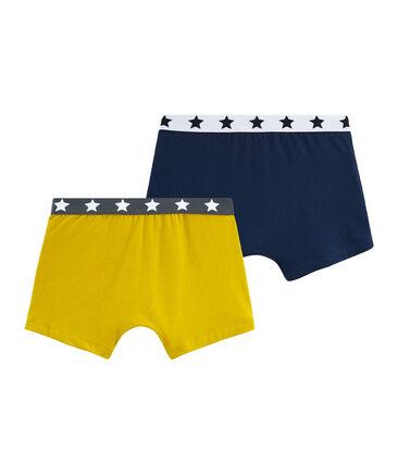 Duo de boxers garçon en coton stretch lot .