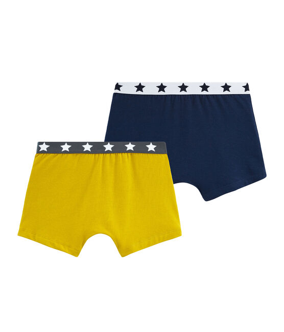 Duo de boxers garçon en coton stretch lot .