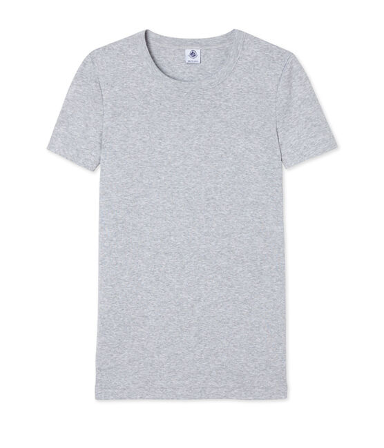 Tee-shirt manches courtes col rond femme gris Poussiere Chine